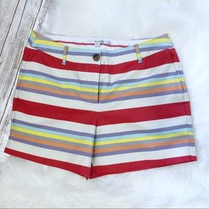Boden Flat Front Striped Chino Shorts